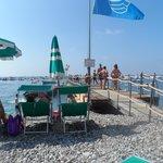 Sur la plage de l'hotel