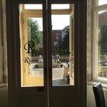 Back door of Rigby's entering the garden