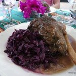 Leg of Lamb and red cabbage