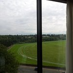 overlooking racecourse