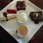 Chefs selection of deserts! A great way of trying alll the delicious deserts on offer! definate
