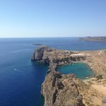 view from the top of Lindos