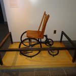 Roosevelt's wheelchair in the gift shop