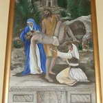 The fourteenth station - Jesus is laid in the tomb - The Church of St Nicholas, Cavtat