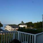 Blick vom Hotelrestaurant/Terasse aufs Meer