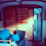 railway carriage inside.