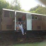 The railway carriage, bedroom window