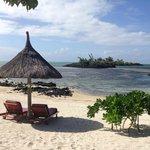 Petit plage derrière la villa princière