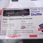 Bus timetable Termini - Castel Romano