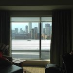 Looking out the window of the room