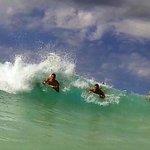 boogie boarding Kua Bay