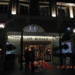Royale Hotel Entrance at night