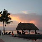 Beach area at sunset