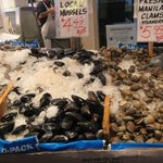 Lots of fresh seafood