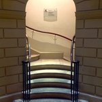 The cleverly designed bottom of the staircase