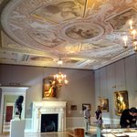 One of the elegant rooms with reproduction ceiling paintings