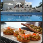 Pool area & homemade tapas