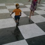 Big Chess Board ... With my Son Playin on it ....