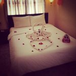 e beautiful room they did for us for our honeymoon!!!!