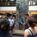 A Berlin Wall installation (gift from Germany) in the Underground City