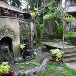 Fountain Below Restaurant and Garden Suites