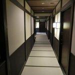 畳敷きの廊下です