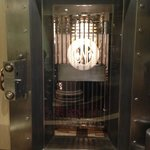 Awesome use of the old bank vault as a meeting room.