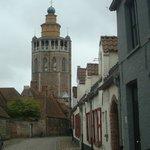 Een laatste blik op de kerk en dan verder Brugge verkennen!