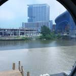 Hotel View from Across the Cuyahoga River
