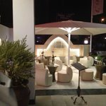 Outside seating area, in front of entrance - for drinks