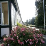 Back of hotel overlooking the Kurhaus Gardens