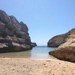 local beach which has steps back to sea club