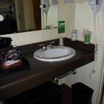 Sink area, just outside bathroom
