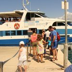 The boat to transport you to and from Rovinj