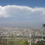 Parte de Santiago e Cordilheira dos Andes vista do Cerro San Cristobal