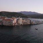 Vue du port de Saint Florent depuis la Citadelle