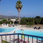 La piscine vu de la terrasse