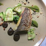bream with courgettes
