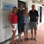 Circumnavigators Niels & Rega at the stopover at Mayday