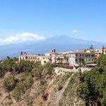 Vue sur l'Etna depuis notre balcon !