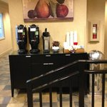 Complimentary coffee and tea all day in the lobby