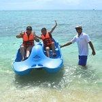 water toys at playa mia