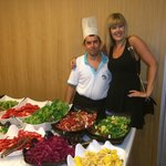 Me and one of the chefs