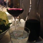 They had wine by the carafe (half bottle here) which I really appreciated, and seemed uncommon