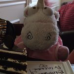 Fluffycorn celebrates her 1st Bday at The Chocolate Turtle!  Yum!