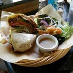 Chicken & Bulgar Salsa Wrap