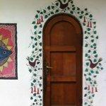 Porta decorada La Chascona