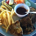 Fresh fish platter.