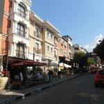Улица, где стоит отель