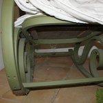 Dessous d'une chaise à bascule